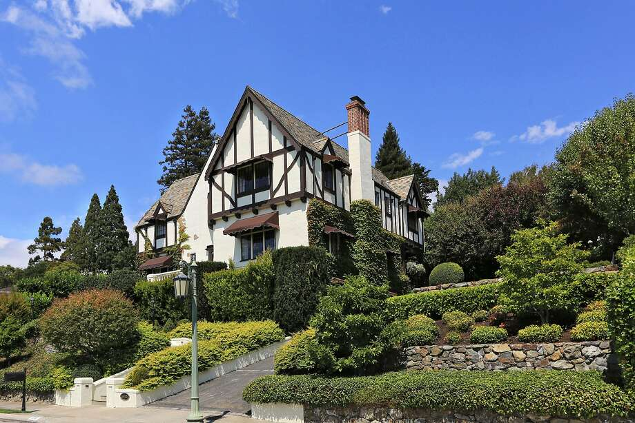 5710 Margarido Drive is a five-bedroom Tudor available for $4 million. Photo: Liz Rusby / Grubb Co.�