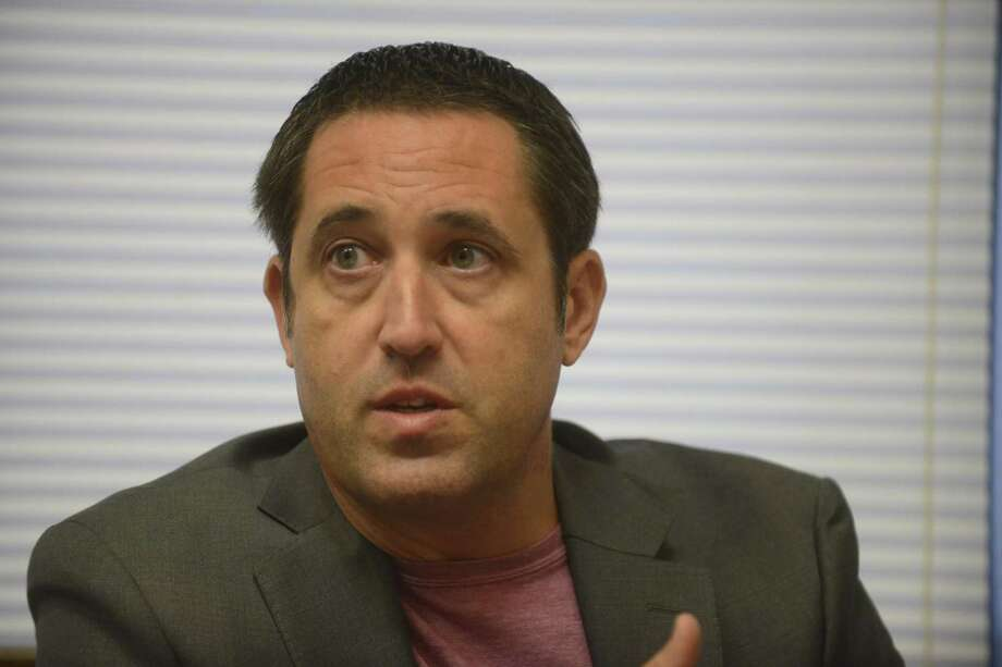 State Comptroller Glenn Hegar's office keeps accounting of state funds, collects taxes and estimates revenue and expenditures for the state of Texas. Here he talks with a reporter at his Austin office on Tuesday, Oct. 10, 2017. Photo: Billy Calzada /San Antonio Express-News / San Antonio Express-News