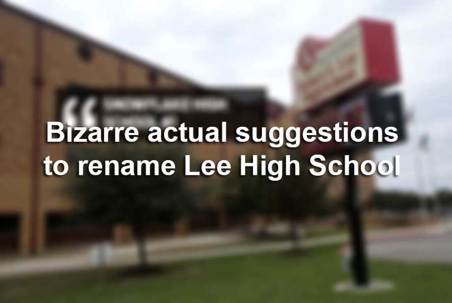 NEISD released a full list of the community-suggested names to rename Robert E. Lee High School. Many of the submissions did not meet criteria and contained offensive and inappropriate references. / ©San Antonio Express-News/John Davenport