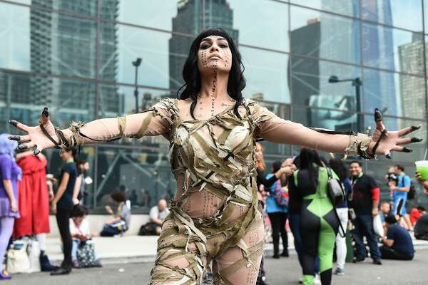NEW YORK, NY - OCTOBER 06:  A Comic Con cosplayer dressed as the Mummy poses during the 2017 New York Comic Con - Day 2 on October 6, 2017 in New York City.  (Photo by Daniel Zuchnik/Getty Images)