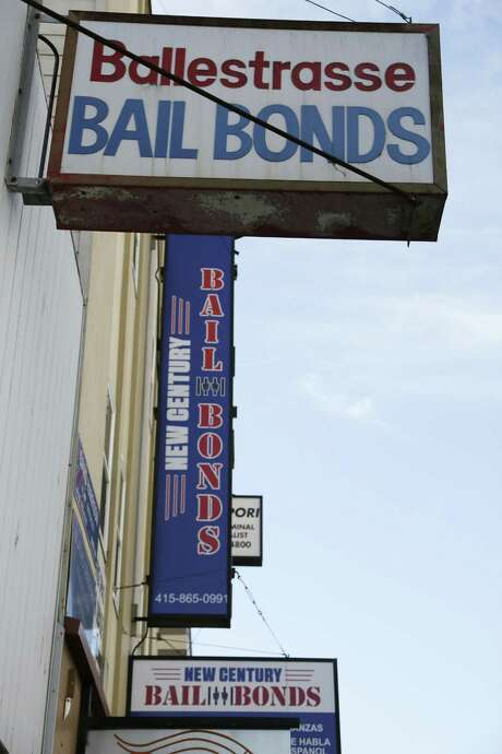 The Fifth Circuit Court of Appeals is weighing a case out of Harris County that asks whether demanding cash bail from poor people without houses to put up violates the Constitution's equal protection guarantee. This is a San Francisco bail bond office. Photo: Eric Risberg /Associated Press / AP