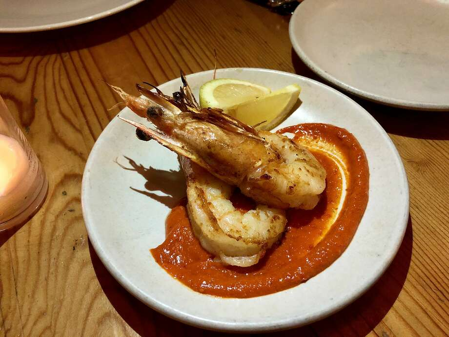 Shrimp with romesco sauce at Contigo in S.F. Photo: Michael Bauer, The Chronicle