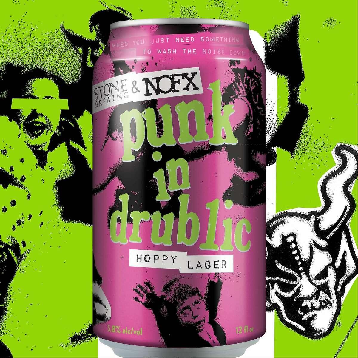 Punk in Drublic hoppy lager.