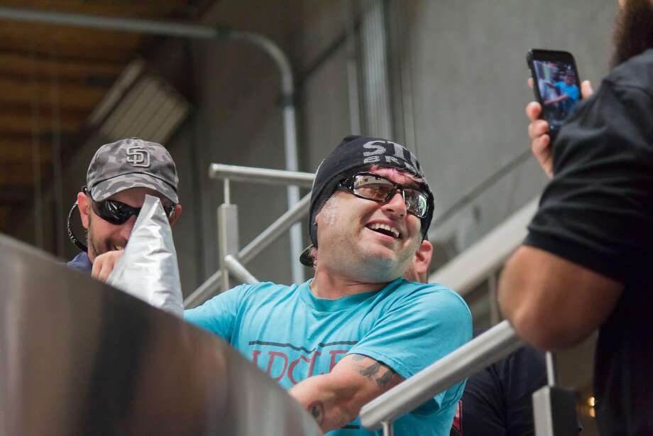 NOFX's Fat Mike at Stone Brewing. Photo: Courtesy Stone Brewing