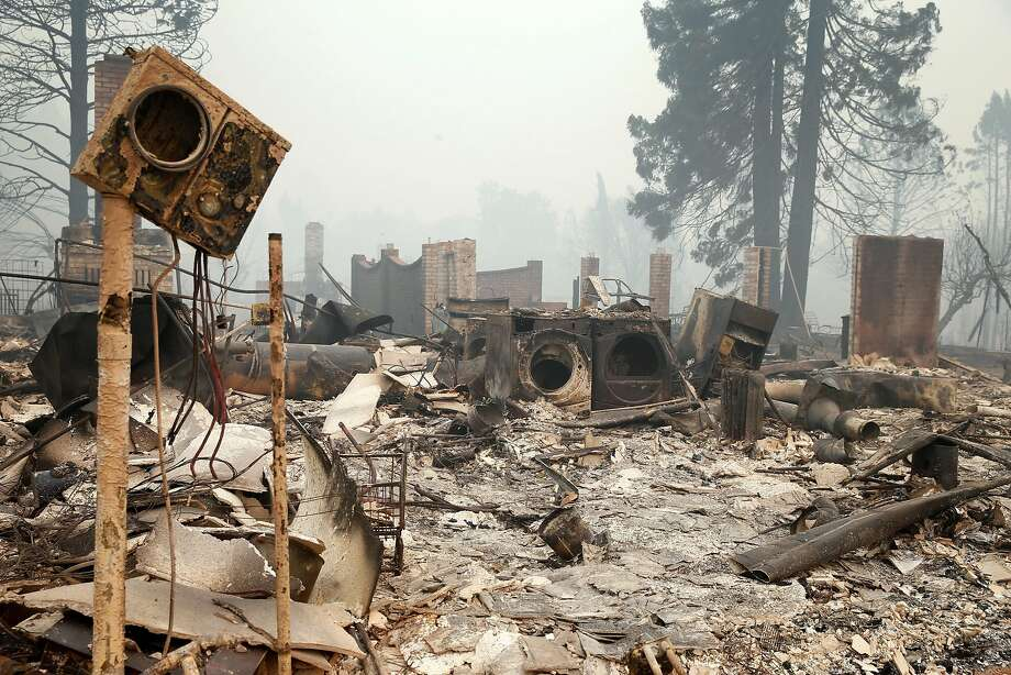 Rubble after fire, Tuesday, Oct. 10. Photo: Paul Chinn, The Chronicle