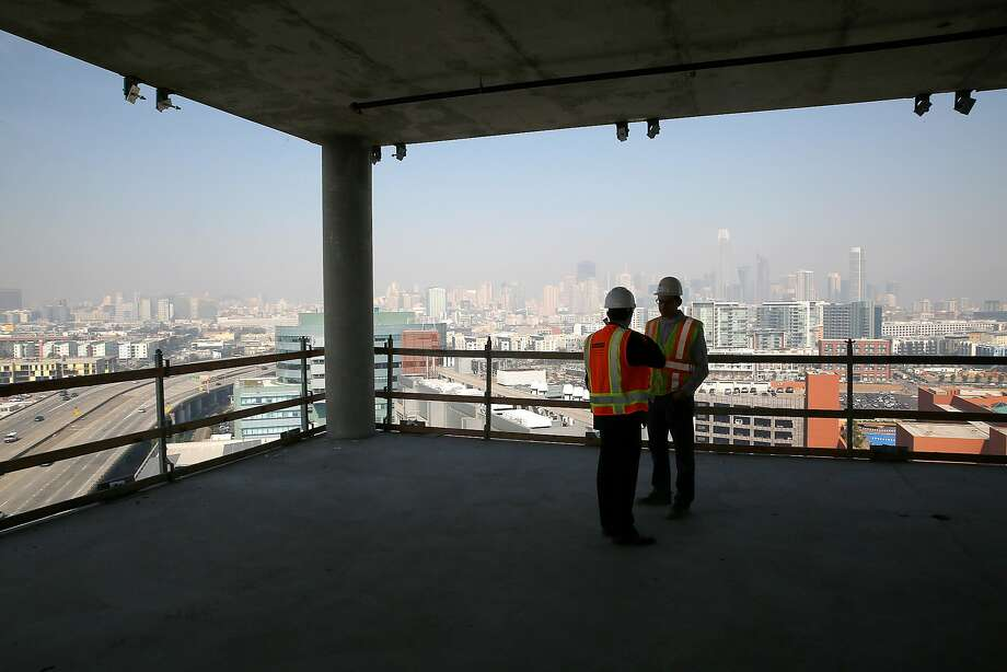 View from the North Tower, part of the 750,000-square-foot lease by Dropbox on 16th Street in S.F.'s Mission Bay. Photo: Liz Hafalia, The Chronicle