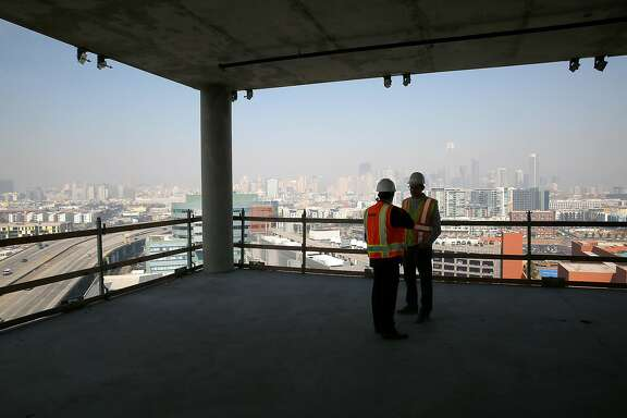 View from the North Tower, part of the 750,000 sq. foot lease by Dropbox on 16th St. in the Mission Bay on Tuesday, October 10, 2017, in San Francisco, Calif.