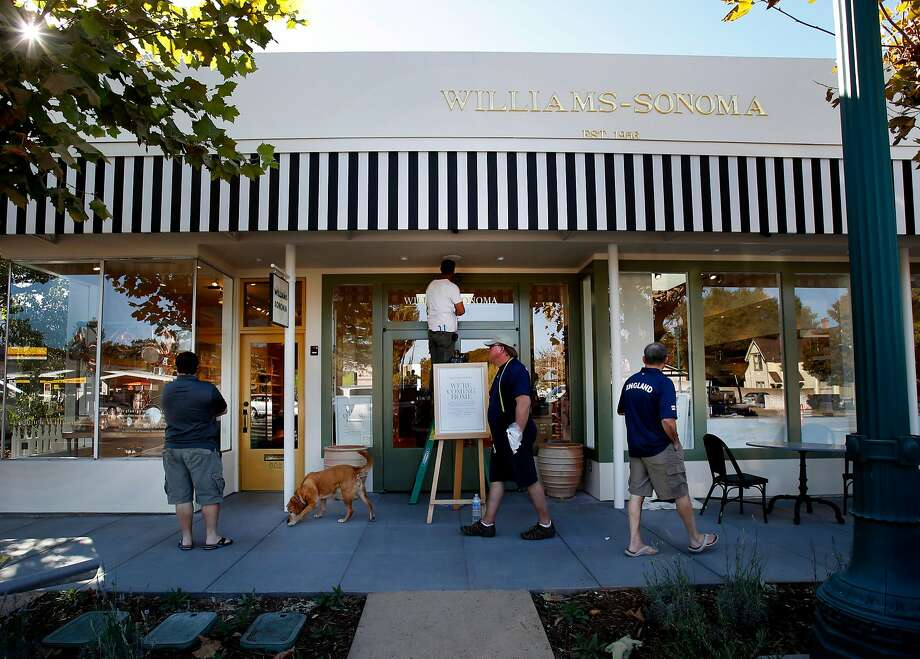 Williams-Sonoma reopened a store in its original Sonoma location in 2014. A company spokeswoman could not verify the store's status on Tuesday after wildfires ripped through the region, and no one at the store answered the phone. Photo: Brant Ward, The Chronicle