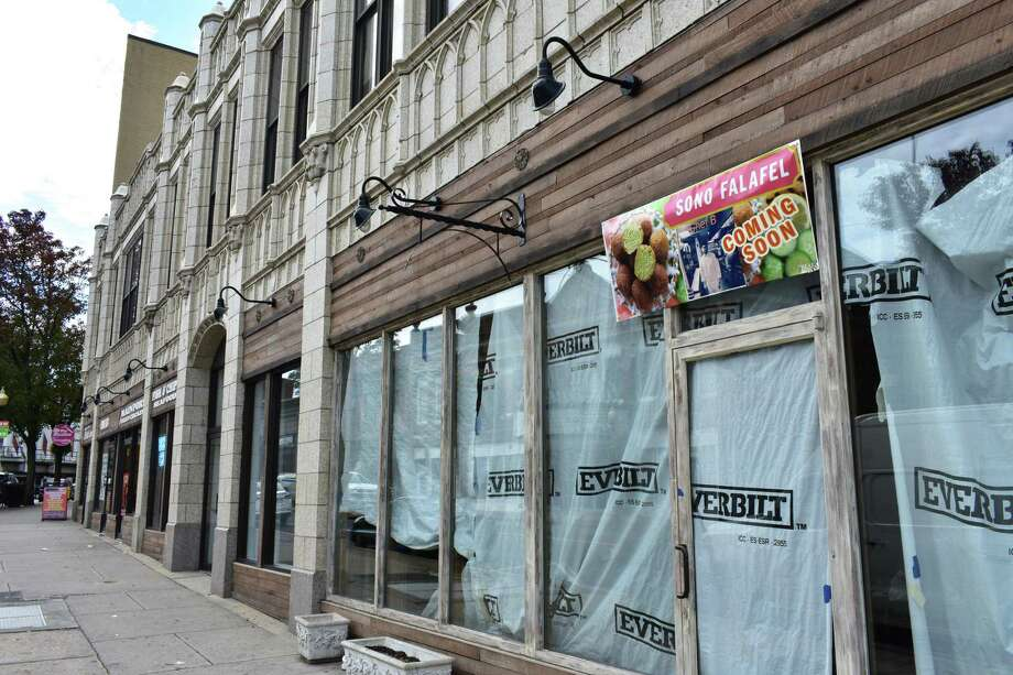A new restaurant called SoNo Falafel plans to take the former Jax & Co. space at 46 North Main St. in South Norwalk, Conn., pictured on Oct. 10, 2017. Photo: Alexander Soule / Hearst Connecticut Media / Stamford Advocate