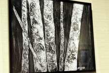 Below is one of her acrylic ink artworks.