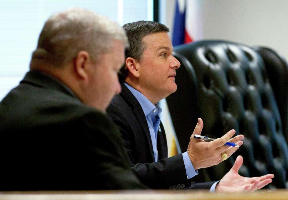 Precinct 3 Commissioner Noack said he chose Houston-based Huitt-Zollars because he has worked with them in the past on flood mitigation in his precinct. He added the firm also has experience working with the Army Corps of Engineers. Photo: Jason Fochtman, Staff Photographer / © 2017 Houston Chronicle