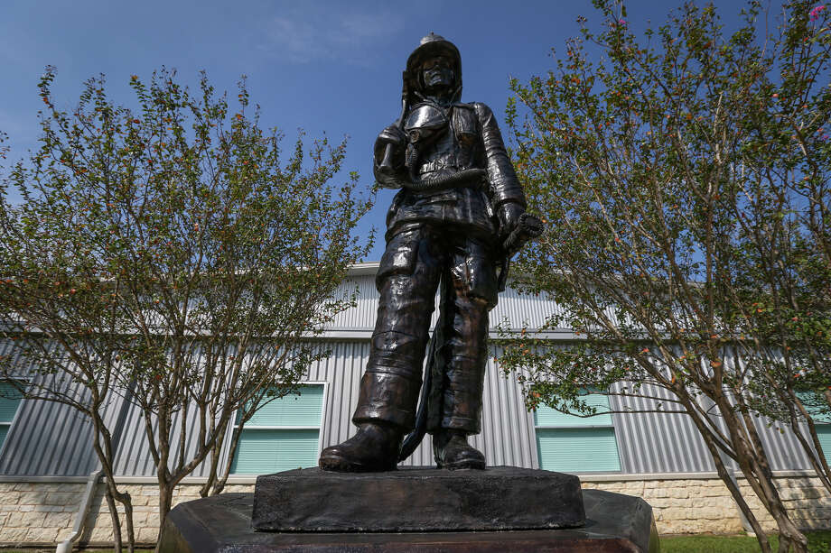 The newly reinstalled Montgomery County Fallen Firefighters Memorial is pictured on Tuesday, Oct. 10, 2017, at The Lone Star Convention and Expo Center. Photo: Michael Minasi, Staff Photographer / © 2017 Houston Chronicle