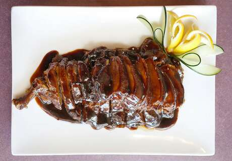 Stewed duck in soy sauce Wuxi-style at Jiangnan Cuisine in the Outer Richmond. Photo: Liz Hafalia, The Chronicle
