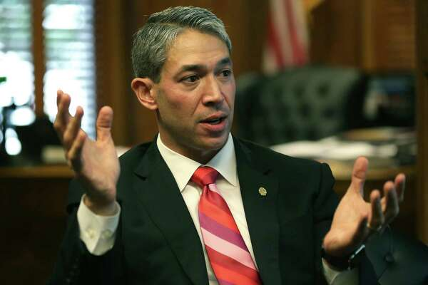 San Antonio Mayor Ron Nirenberg speaks with the media in his office on Tuesday, Oct. 10, 2017.