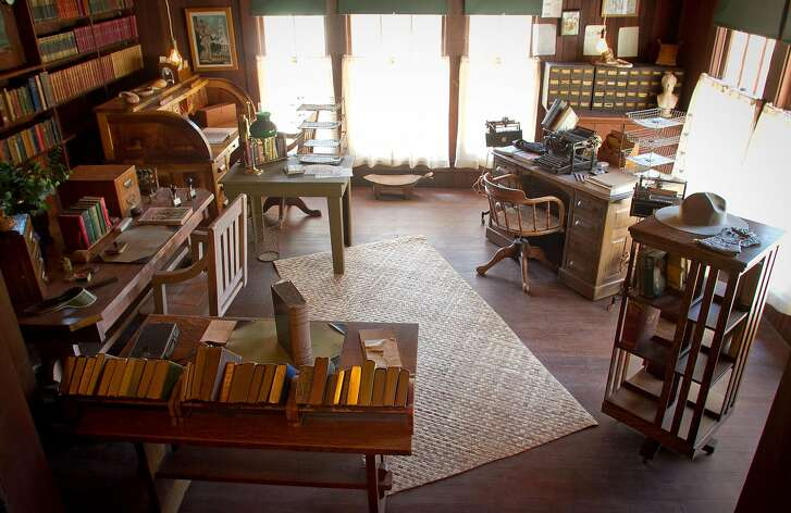 The library in Jack London's cottage at Jack London State Park in Glen Ellen, Calif., is seen on Friday, July 13th, 2012.