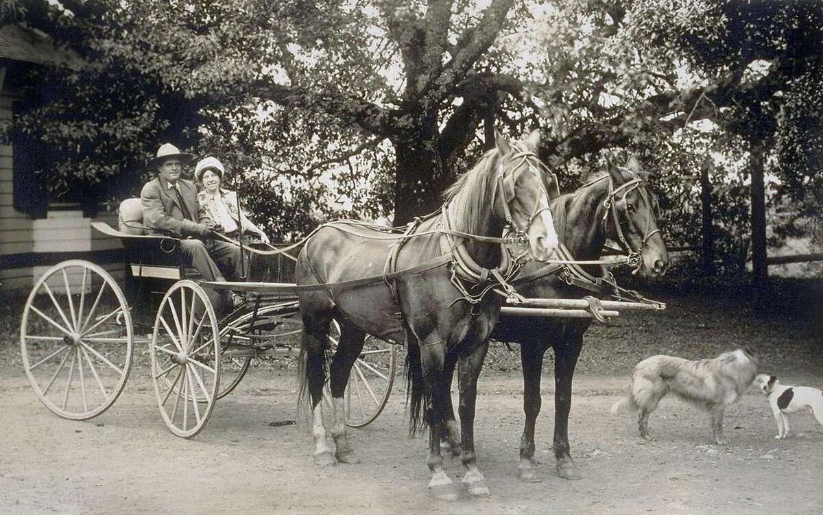 Jack and Charmian London on their ranch in Glen Ellen.