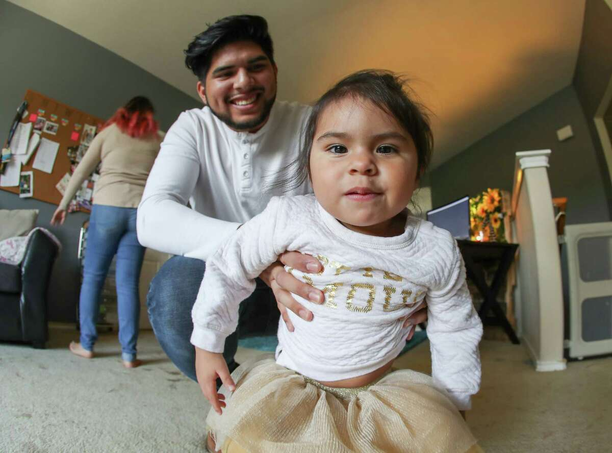 Jeff Segura and his daughter Camila have a vlog about their family are photographed Saturday, Oct. 7, 2017, in Pearland. ( Steve Gonzales / Houston Chronicle )