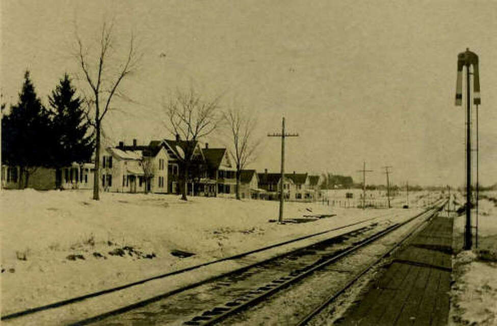 Hudson Avenue and the Adams Street railroad crossing in Delmar from 1900-1910.