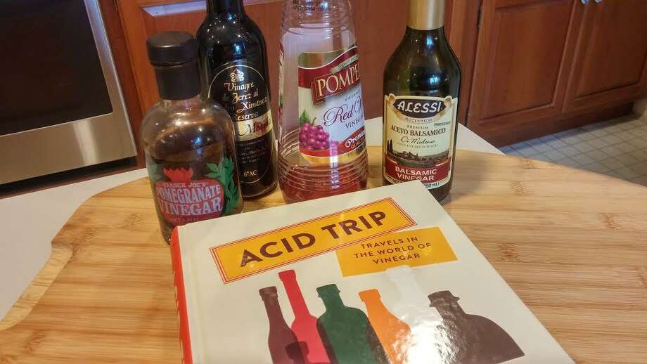 """Acid Trip — Travels in the World of Vinegar,"" is a new book by Michael Harlan Turkell, recounting his journeys around the world — visiting chefs, gathering recipes, tasting local vinegars, and slaking his thirst for this most versatile and important ingredient. Photo: Frank Whitman / For Hearst Connecticut Media"