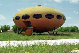 The Futuro Houses were designed in the 1960s by Finnish architect Matti Suuronen as a cheap home that could be placed anywhere. Two of them rest in Rockwall and Royse City, Texas.
