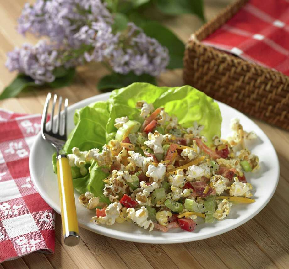Popcorn Salad  Photo: Photo Courtesy Of The Popcorn Board /