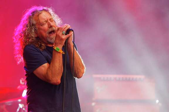 FILE - In this  June 14, 2015, file photo, Robert Plant and The Sensational Space Shifters perform at the Bonnaroo Music and Arts Festival in Manchester, Tenn. Plant announced his 2018 North American tour on Sept. 26, 2017. (Photo by Wade Payne/Invision/AP, File)