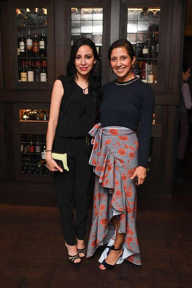 Barbra Teran and Vogue México editor Karla Martinez de Sala Photo: DANIEL ORTIZ