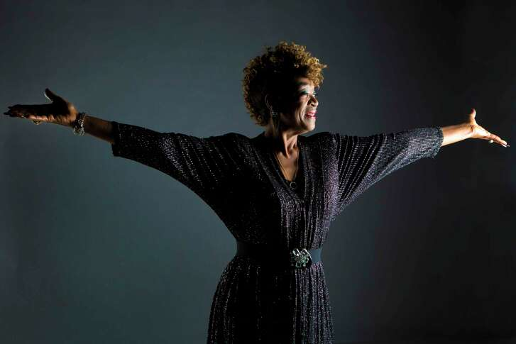 """After seven years, electric blues singer, Trudy Lynn has released the album """"Royal Oaks Blues Cafe"""". Tuesday, Dec. 10, 2013. ( Marie D. De Jesus / Houston Chronicle )"""