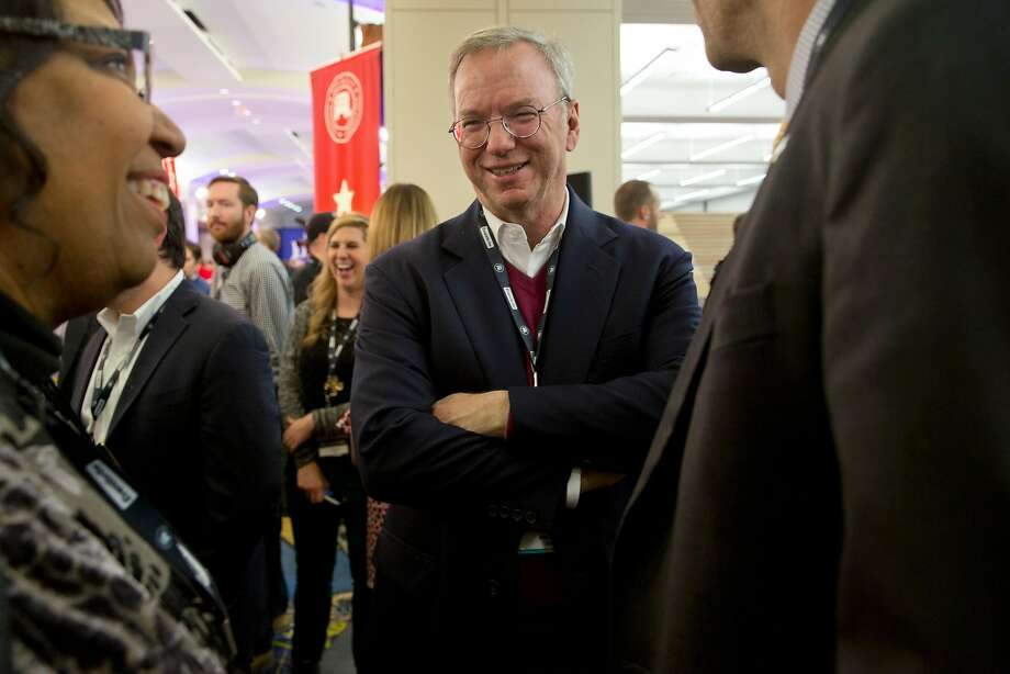 Eric Schmidt (right), Alphabet's chairman, and his wife are funding the new fellowship for interdisciplinary research. Photo: STEPHEN CROWLEY, NYT
