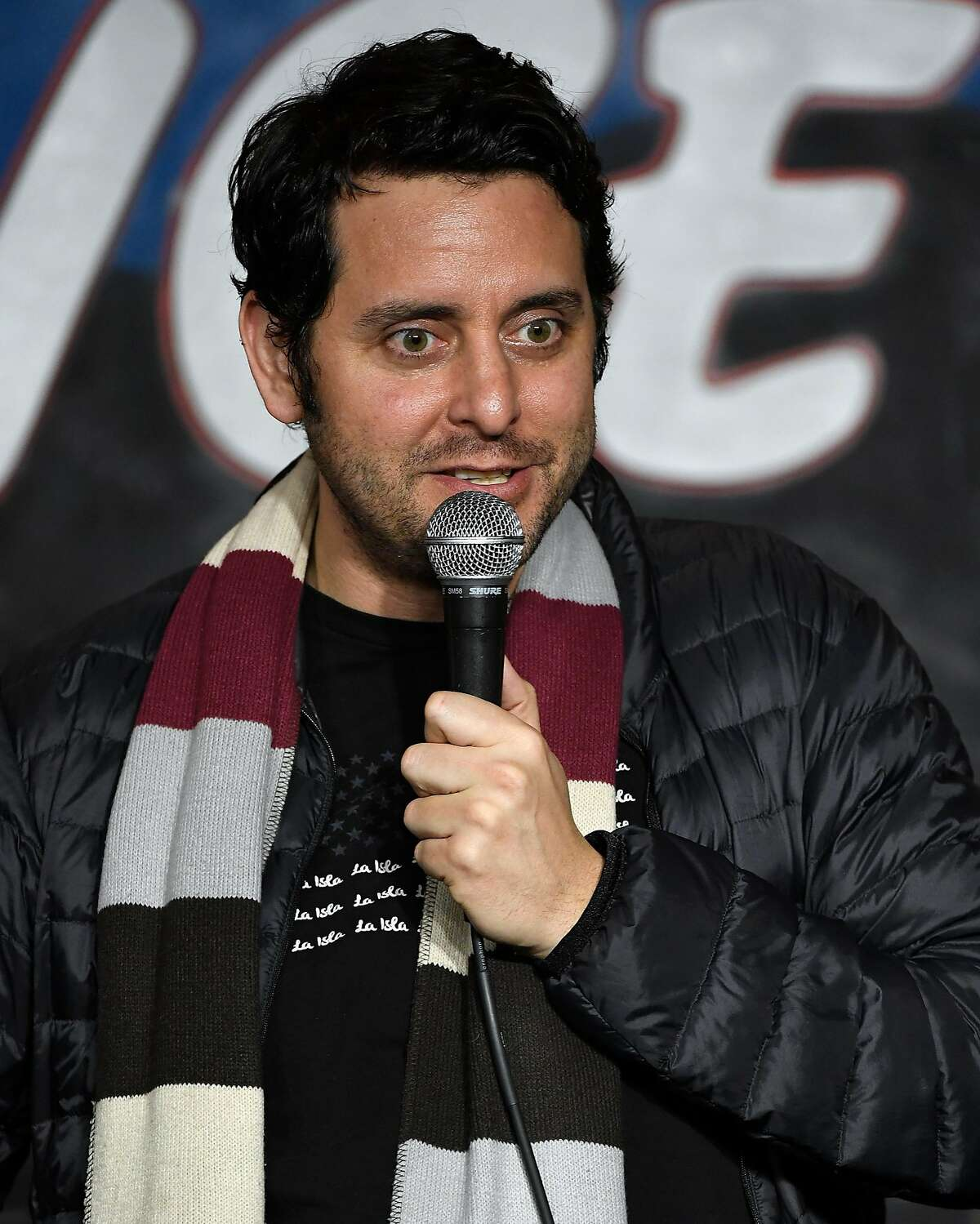 PASADENA, CA - FEBRUARY 01: Comedian Ben Gleib performs during his appearance at The Ice House Comedy Club on February 1, 2017 in Pasadena, California.