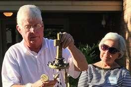 Sunday school farewell: Bob and Wanda Hopkins