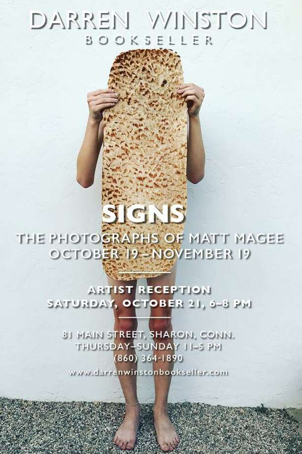 Darren Winston, Bookseller in Sharon will host a reception for Signs, an exhibition of photographs by artist Matt Magee, on Oct. 21. Photo: Contributed Photo / Not For Resale