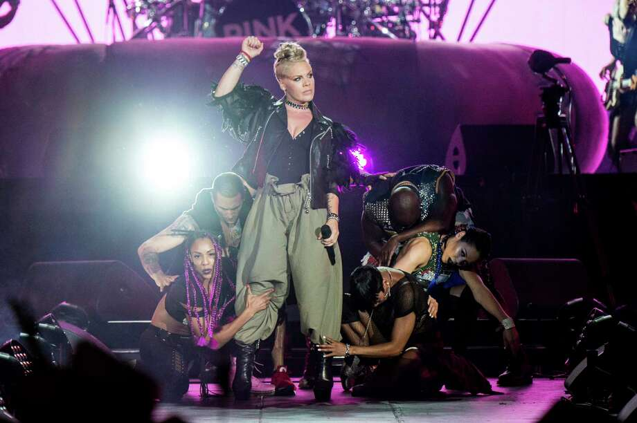 Pink performs during the Festival d'ete de Quebec in Quebec City, Canada. Photo: Amy Harris, Associated Press / 2017 Invision