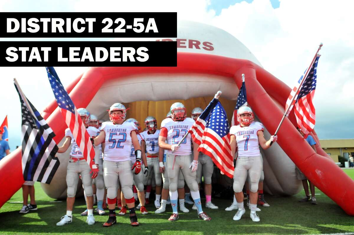 District 22-5A stat leaders. (Mike Tobias/The Enterprise)