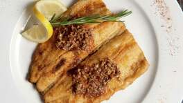 Pan Fried Trout with Pecan Butter.