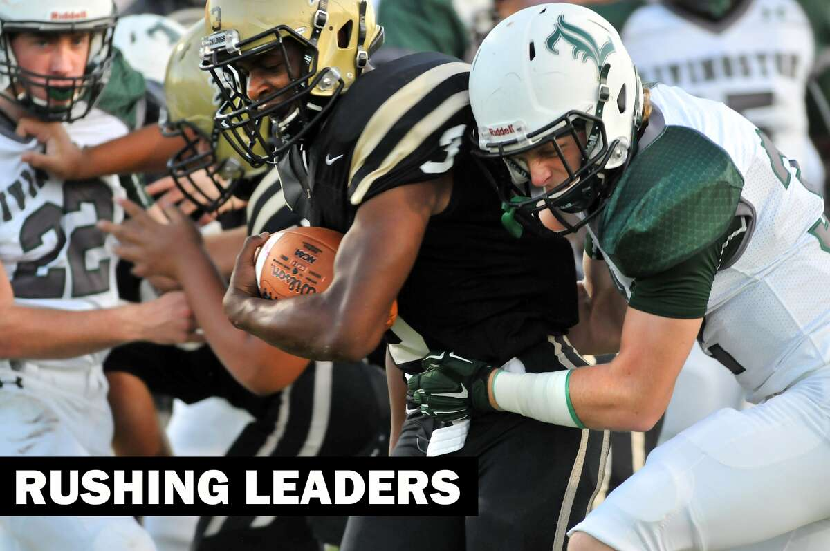 District 22-5A rush leaders. (Mike Tobias/The Enterprise)