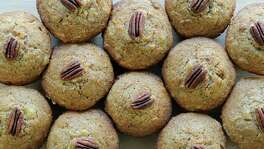 "Glorious Morning Muffins from ""The Harvest Baker"" by Ken Haedrich are loaded with pecans, carrots and fruit."