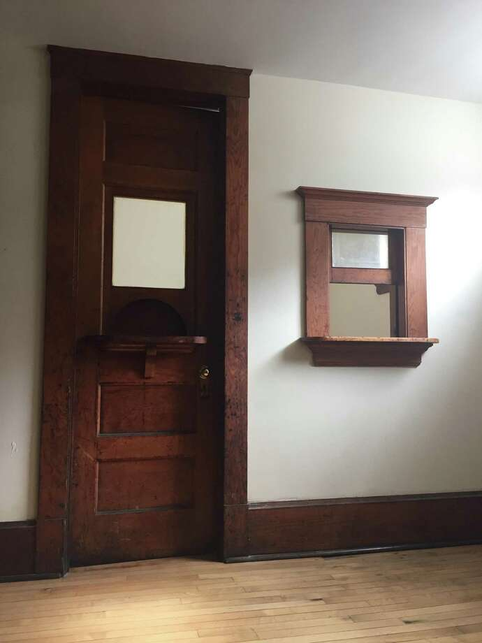 The ticket booth where replica 1910 tickets will be sold for seven cents during the first Family Movie Night at Assumption School in Ansonia. Photo: / Contributed Photo