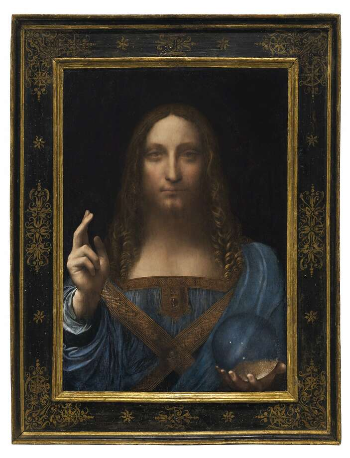 """Salvator Mundi"" (ca. 1500), one of the few known paintings by Leonardo da Vinci, will be on view in S.F. for three days. Photo: Christie's"