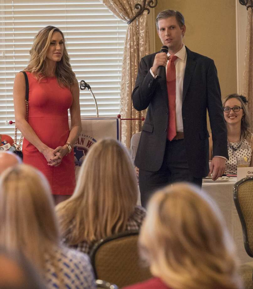 Eric and Lara Trump make a surprise appearance and speech 10/11/17 at the Midland County Republican Women's luncheon. Tim Fischer/Reporter-Telegram Photo: Tim Fischer/Midland Reporter-Telegram