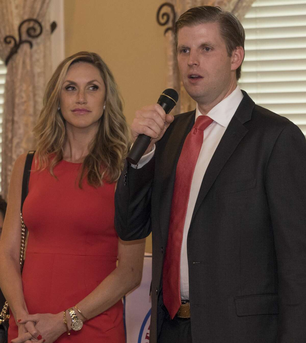 Eric and Lara Trump make a surprise appearance and speech 10/11/17 at the Midland County Republican Women's luncheon. Tim Fischer/Reporter-Telegram