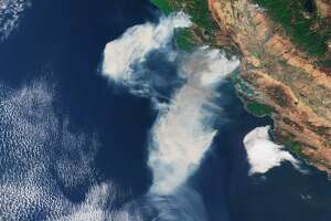 The European Space Agency's Sentinel 3 captured the smoke from Northern California wildfires.