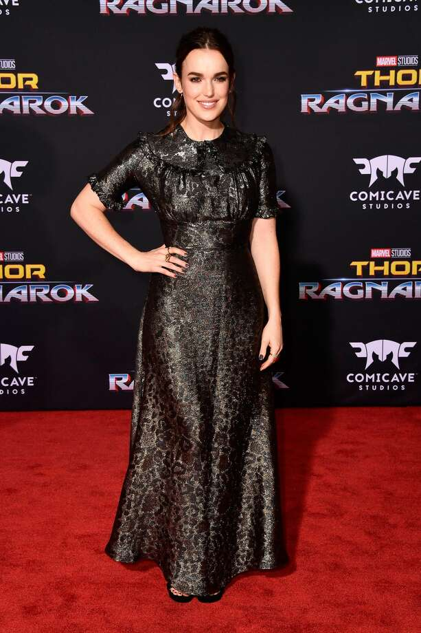 """LOS ANGELES, CA - OCTOBER 10:  Elizabeth Henstridge attends the premiere of Disney and Marvel's """"Thor: Ragnarok"""" on October 10, 2017 in Los Angeles, California.  (Photo by Frazer Harrison/Getty Images) Photo: Frazer Harrison/Getty Images"""