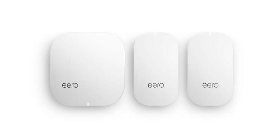 If you have a really large home, you may want to consider a mesh networking Wi-Fi system, which uses a series of small access points in various locations to provide good coverage. The eero Home WiFi System is one example. Photo: Eero