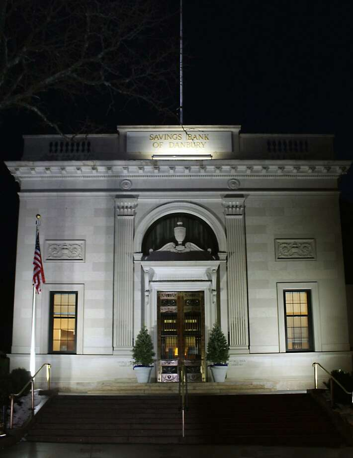 The Savings Bank of Danbury on Main Street with its new LED light display. The lights are part of a promotion by City Center Danbury to highlight Main Street architecture. Photo courtesy City Center Danbury Photo: Contributed Photo City Center Danbury / Hearst Connecticut Media / The News-Times Contributed