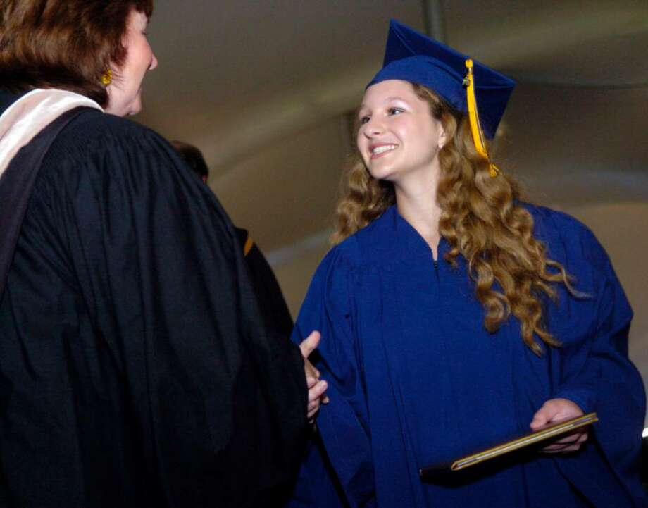 Weston High School students graduate during a ceremony at the school on Thursday, June 24, 2010. Photo: Lindsay Niegelberg / Connecticut Post