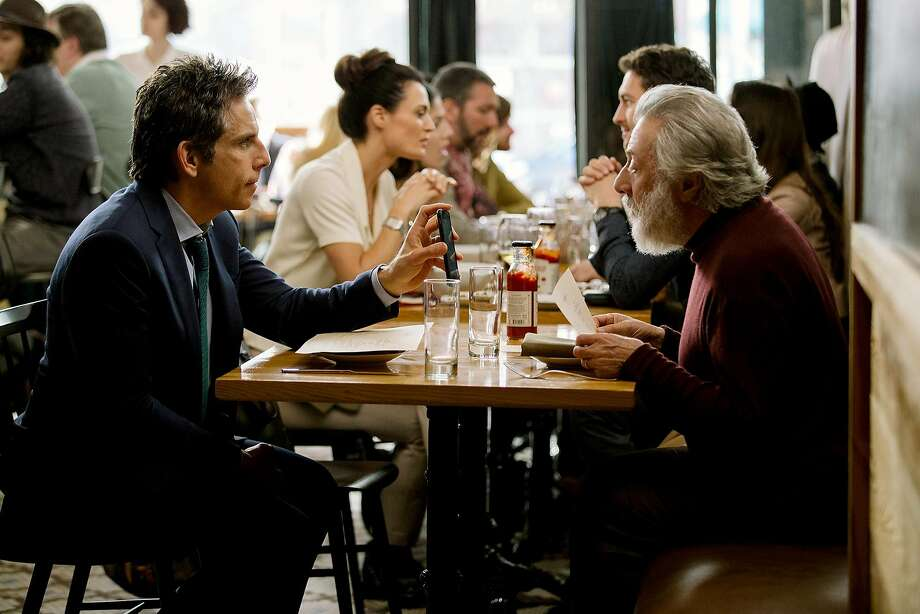 "Ben Stiller (left) and Dustin Hoffman in ""The Meyerowitz Stories (New and Selected)."" Photo: Atsushi Nishijima, Netflix"