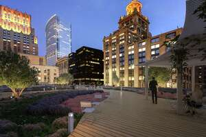 The green roof at Capitol Tower, 12 floors up, will feature pathways lined with native, adaptive plants and grasses.