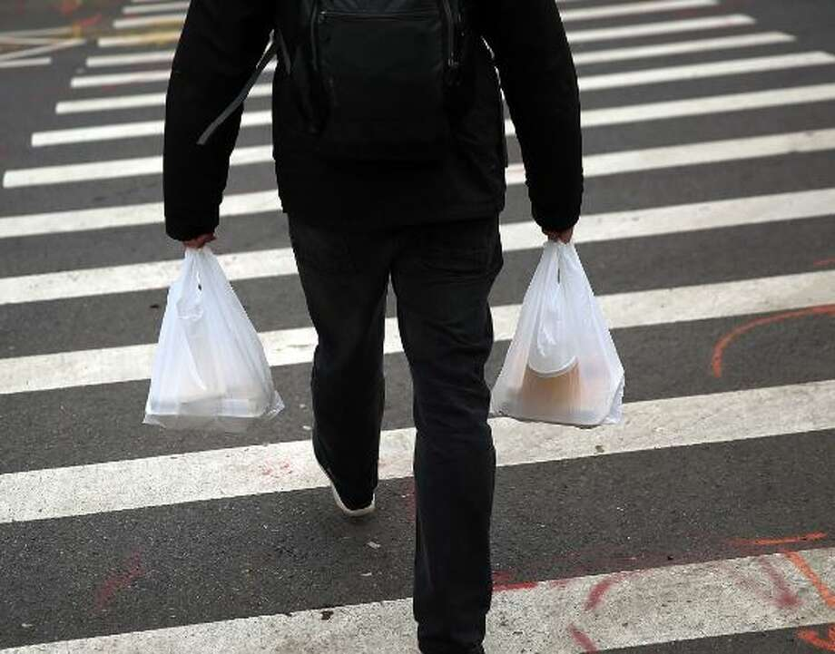 A task force is mulling whether to charge a fee or even ban these type of bags