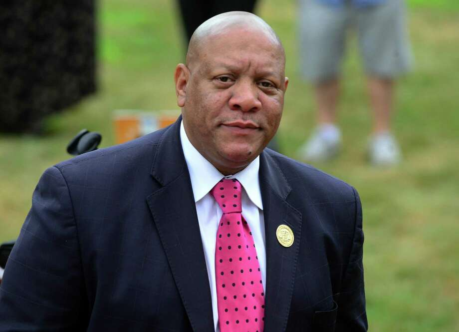 Scot X. Esdaile, president of the NAACP in Connecticut, charged on Wednesday that there are more than 20 complaints over systemic racial discrimination within the state Department of Mental Health and Addiction Services, which runs programs through the state focusing on mental health and substance abuse. Photo: Christian Abraham / Hearst Connecticut Media / Connecticut Post